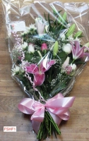 FSHF1 SHEAF ROSES AND LILIES