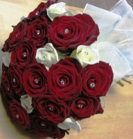 BR3 RED ROSE BRIDAL HAND TIED