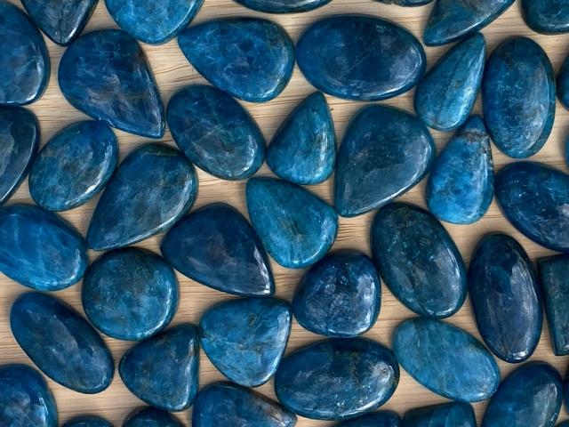 Blue Apatite Cabochons - Wholesale Pack